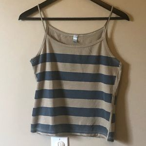 American apparel cropped tank top.